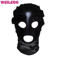 Простой лакированная кожа секс маска раб bdsm секс-игрушки для семейных пар маска секс игрушки бдсм фетиш bondage mask эротические игрушки для взрослых игры