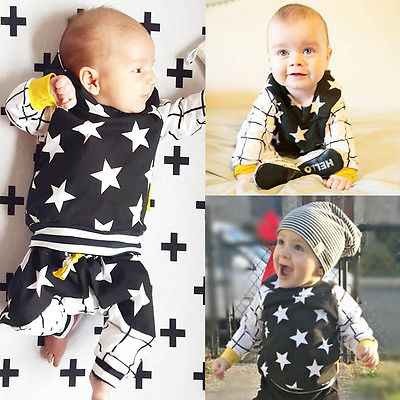 Cute-Baby-Kids-Boy-Girl-Tops-Star-Hooded-SweatshirtsPants-2pcs-Outfits-Set-Clothes-6M-3Y-2