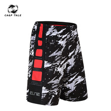 Basketball soprts shorts elite splash sports over the knee five large size quick-drying running men summer