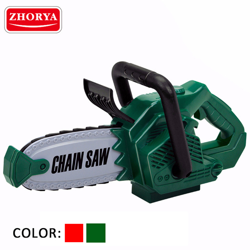 Zhorya Pretend Play Rotating Chainsaw with Sound Simulation Repair Tool Toys House Play Early Educational Toy for Children Boys