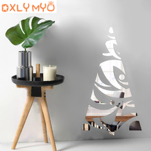 Modern Acrylic Wall Sticker Christmas Tree 3d Decorative Mirror Stickers Living Room Bedroom Decor Decoration