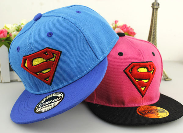 2015 Korean Retail Kids Baseball Caps Baby Hats & Caps Hip hop style Embroidery Superman Cotton Cap Baby Boys Girls Peaked cap 2016 fashion kids cartoon snapback caps flat brim child baseball cap embroidery cotton cap baby boys girls peaked cap