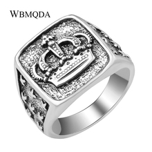 Fashion Hip Hop Star Cross Crown Ring Men Accessories Vintag