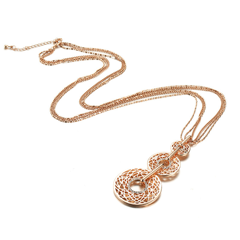 Multilayer 3 Round Necklace