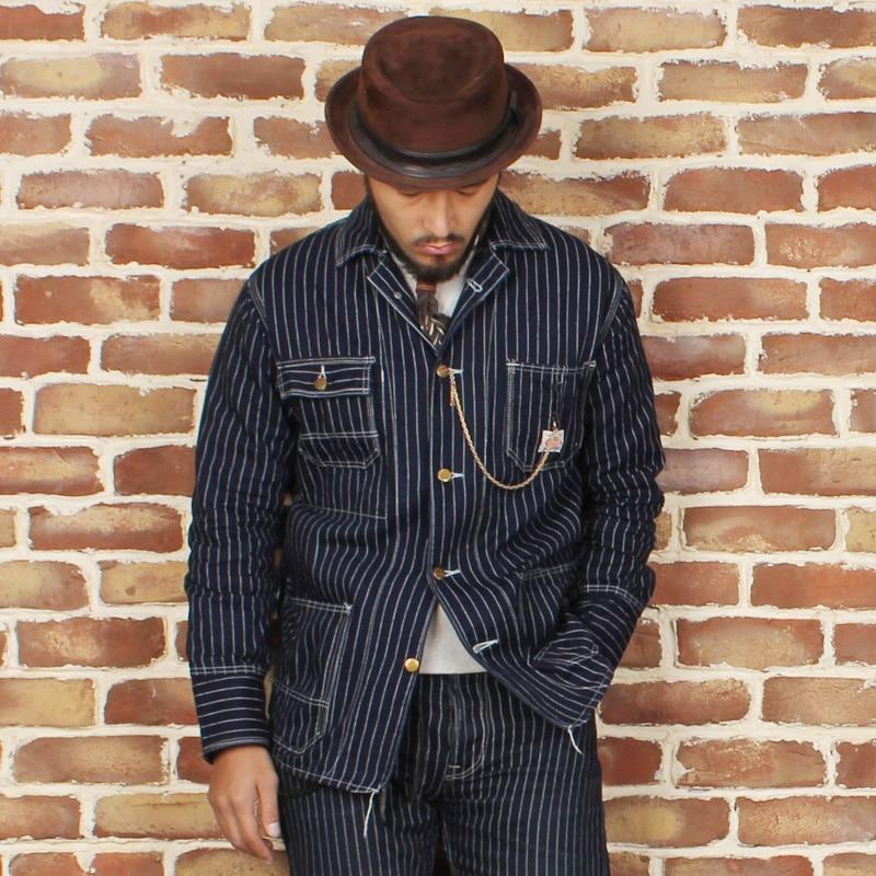 BRONSON new arrival jacket men's Indigo railway denim jacket ...
