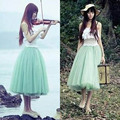 Charming Princess Fairy Style Women Girl Voile Tulle Skirts Bouffant Skirts Ball Gown Half Skirts 5 layers BZ655161