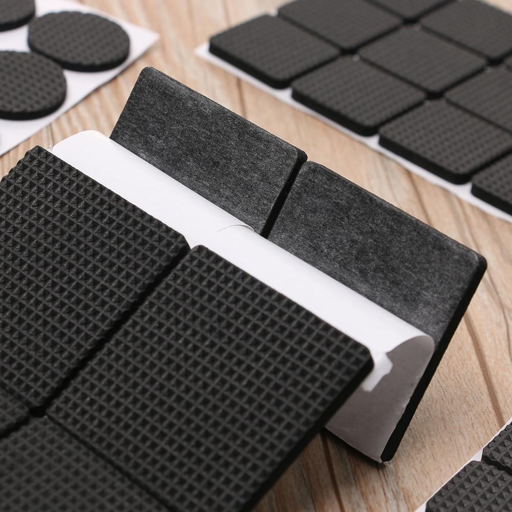 1/2/6/15/24PCS Soft Thickening Bumper Chair Fittings Self-adhesive Floor Protector Anti-slip Mat Anti Rub Furniture Leg Pads