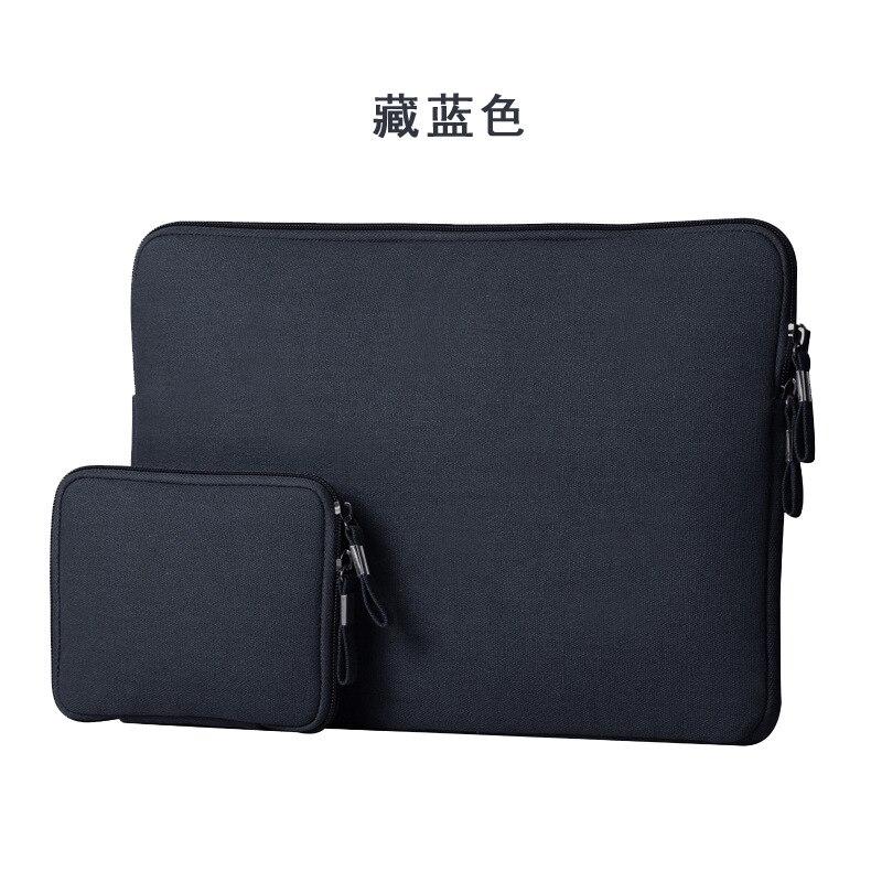 Новый тонкий молния для Macbook Air 11 13 Laptop Sleeve холст чехол для Macbook Pro retina 13 15 Мышь Зарядное устройство кабель USB сумка
