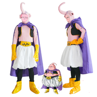 Japanese Anime Dragon Ball Z Majin Buu Cosplay Costume Unisex Halloween Clothes Performance Wear Outfit