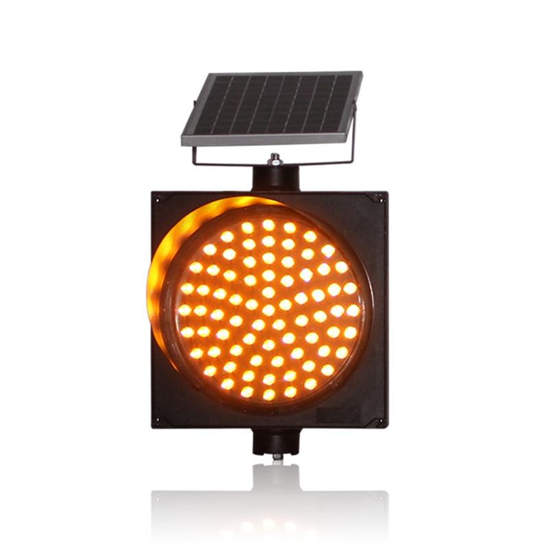 Road Construction 300mm Light Control Solar Warning Flashing Light Traffic Signal Light