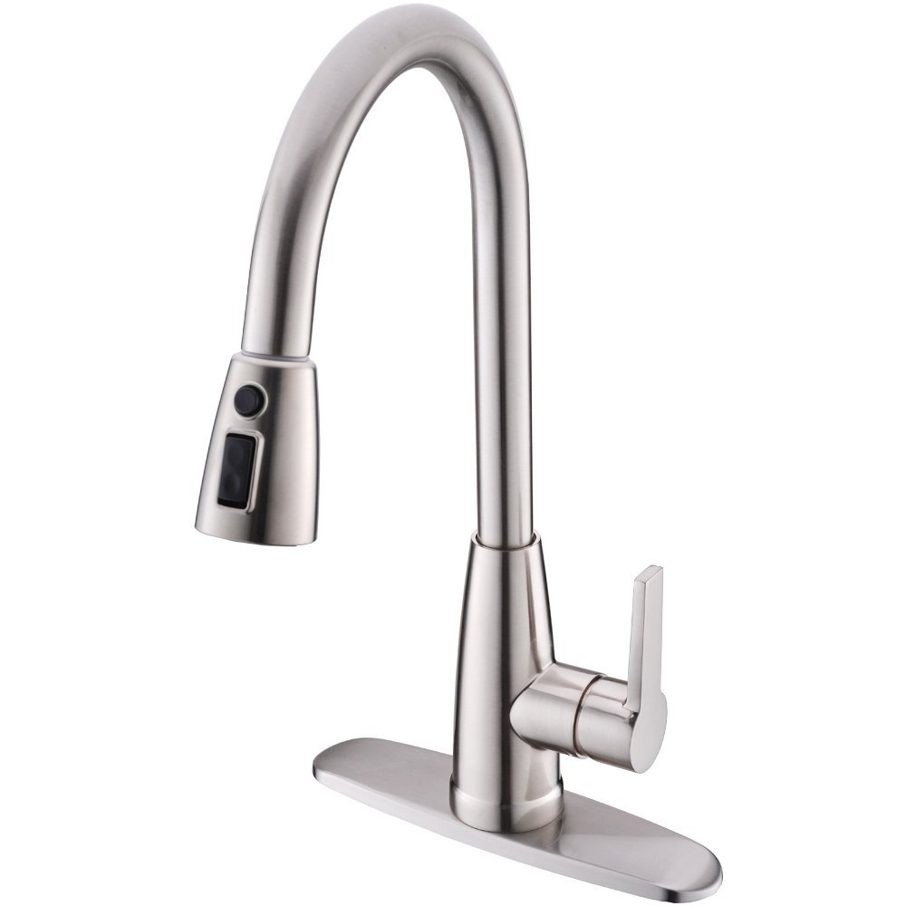 Us 88 77 6 Off Modern High Arc 1 Or 3 Hole Touch Single Handle Stainless Steel Prep Sprayer Pull Out Down Kitchen Sink Faucet Brus In