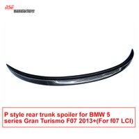 2013 + 5 серии GT f07 P Стиль углеродного волокна спойлер багажника Тюнинг автомобилей крышка багажника крыло для BMW Gran Turismo 535i 550i 530d настройка