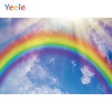 Yeele Landscape Bedhead Rainbow Blue Sky White Cloud Photography Backdrop Personalized Photographic Backgrounds For Photo Studio цена