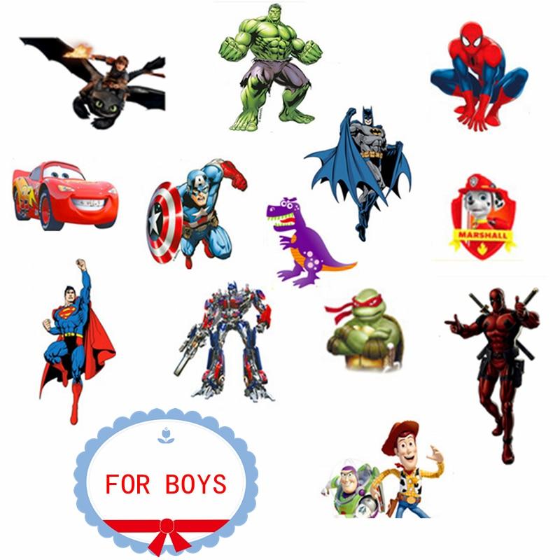 10 sheets Cartoon Temporary Tattoo Sticker Kids Body Art Novelty Gag Toys Waterproof 2 3 Days BUY 10 GET 2 FREE