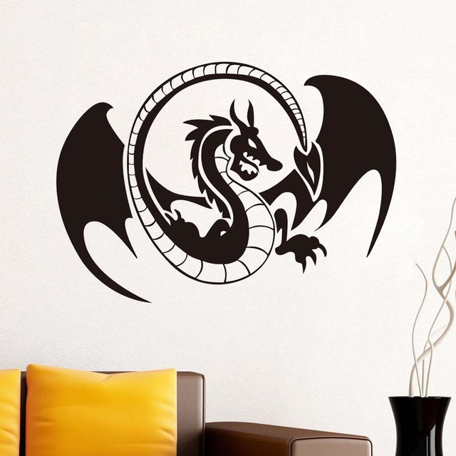 Removable Creative Dragon Huge Cool Wall Stickers For Childrenu0027S Room  Adhesive Baby Wall Decals Home Decor
