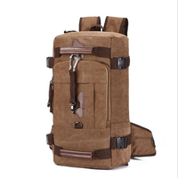 Multifunction Travel Bag Cabin Luggage Men Travel Bags Large Capacity Black Gray Backpack Canvas Casual Duffle Bag