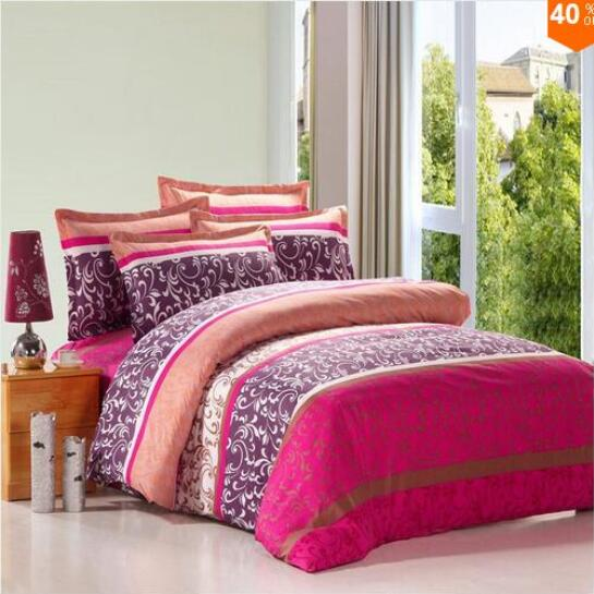 On sale 4pcs bedding set bedding set queen size bed sets sheets pillow duvet cover linens colcha Queen mattress sets sale