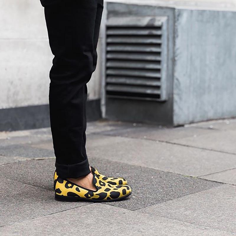 Schuhe Stil Mit Mehrfach Für Handgemachten Print Dauerhaft Futter Animal Tragen Camo Und Klassische Leopard Komfort Piergitar Leder Neue 2018 Männer Zu RwKYxq