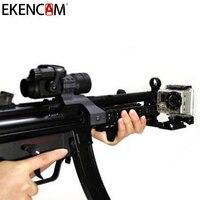 EKEN Cam Gun рейку для спорта Камера Пикатинни airsoft bb Пистолеты Краски мяч для всех GoPro Hero 6 EKEN SJCAM камера аксессуары