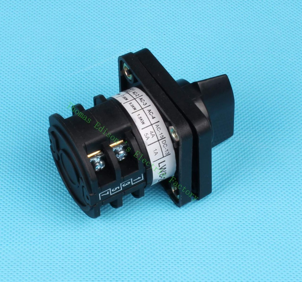 DIANQI lw8 changeover switch lw8-20/2 20a 380v Universal change over switch 3 position 2 knots black colour changeover switch lw6 1 a028 10a 380v universal changeover combination switch one knots lw6