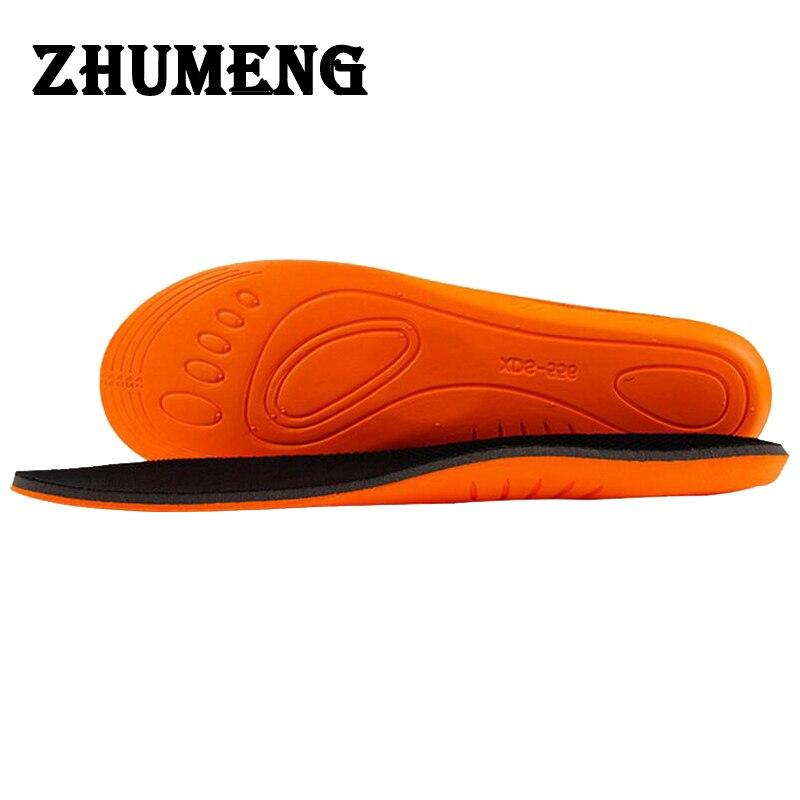 ZHUMENG Men Women Shocker Orthotic Insole Damping Sports Insoles Sweat Non-slip EVA Memory Cotton Insole Heel Pain Sneakers gel insole leather insoles sweat