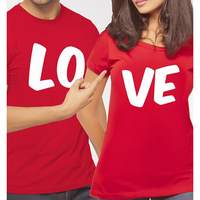 EnjoytheSpirit LO VE T Shirt Couple Clothes Tee Shirt Summer Casual O Neck Short Sleeve Red