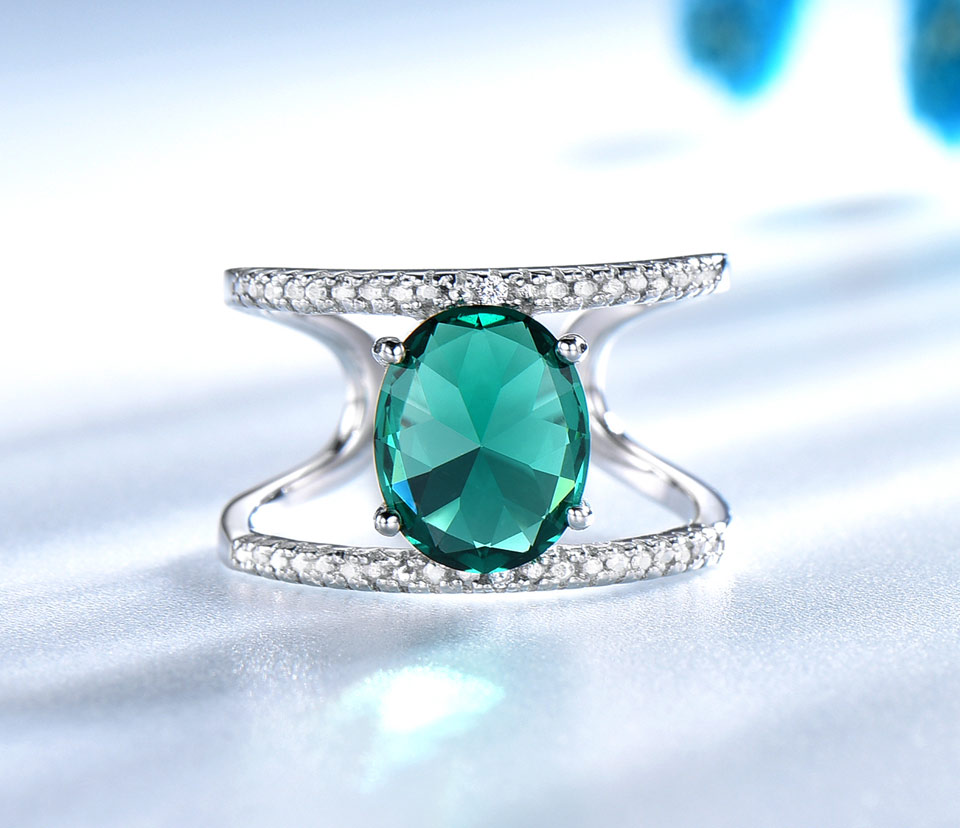 UMCHO-Emerald-silver-sterling-rings-for-women-RUJ074E-1-PC_03