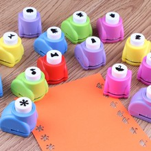 Kid Child Mini Printing Paper Hand Puncher Scrapbook Tags Cards Craft DIY Punch Cutter Tool 16 Styles Hole Punch Drawing Toys(China)