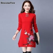 купить 2019 chinese traditional women cheongsam female cotton chinese dress wedding qipao oriental dresses modern girl dress по цене 2268.52 рублей