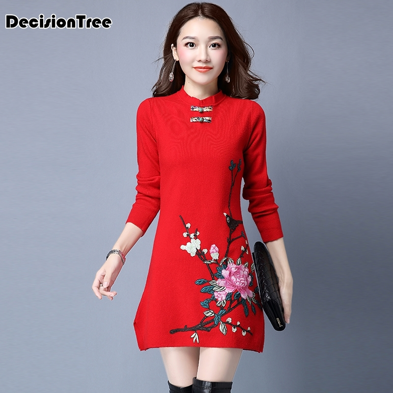 2020 Chinese Traditional Women Cheongsam Female Cotton Chinese Dress Wedding Qipao Oriental Dresses Modern Girl Dress