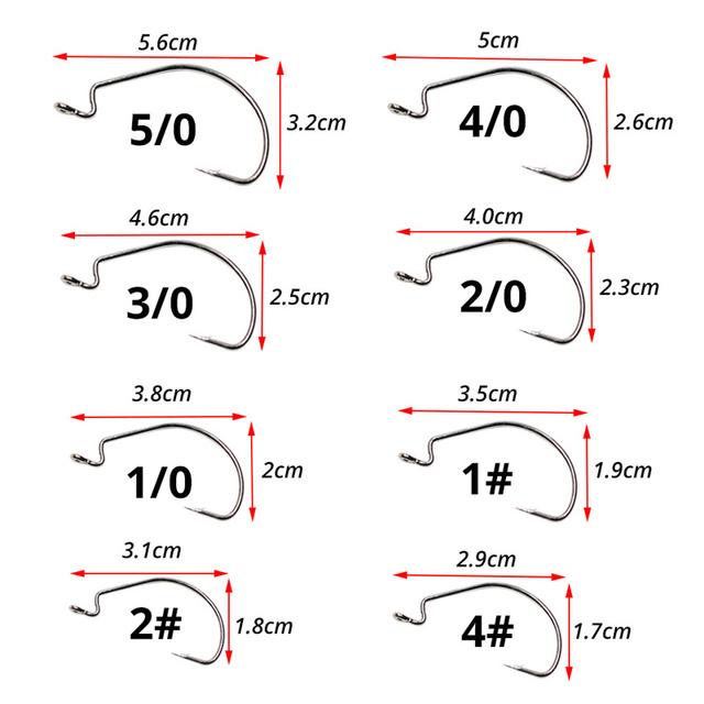 Steel Fishing Hooks Jig Crank Big Bass Hook Lead Jig Head Crank Barbed Hook for Soft Fishing-Amlucas 10pcs Carbon