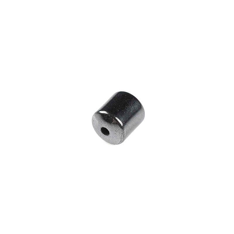 Czarny hematyt koraliki natura kamień koraliki kolumna Gunmetal 5*4mm 87 sztuk dla DIY akcesoria do wyrobu biżuterii DIY bransoletka 7.5*8.5*3mm