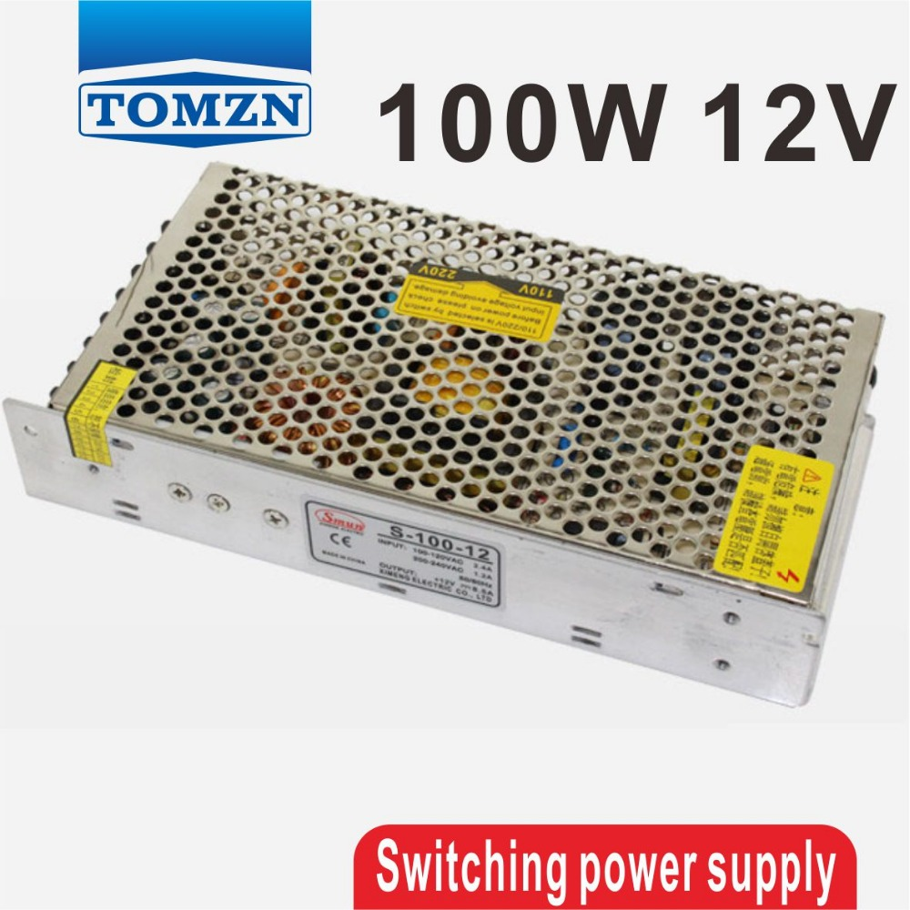 100W 12V Single Output Switching power supply for LED Strip light smps 145w 24v 6a single output switching power supply for led strip light ac to dc smps