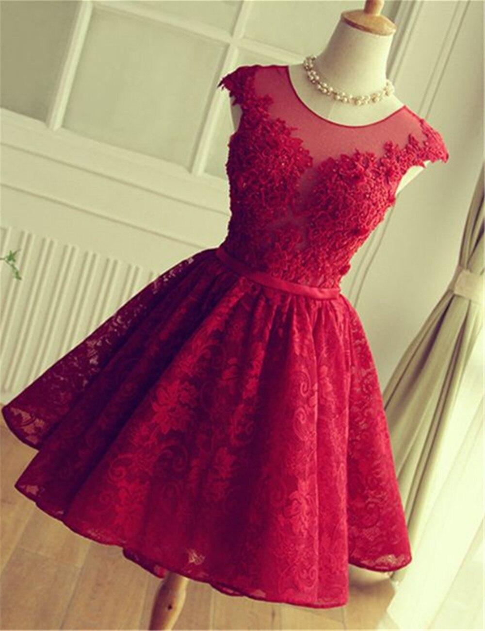 Cheap Burgundy Short Homecoming Dresses 2017 Red Green
