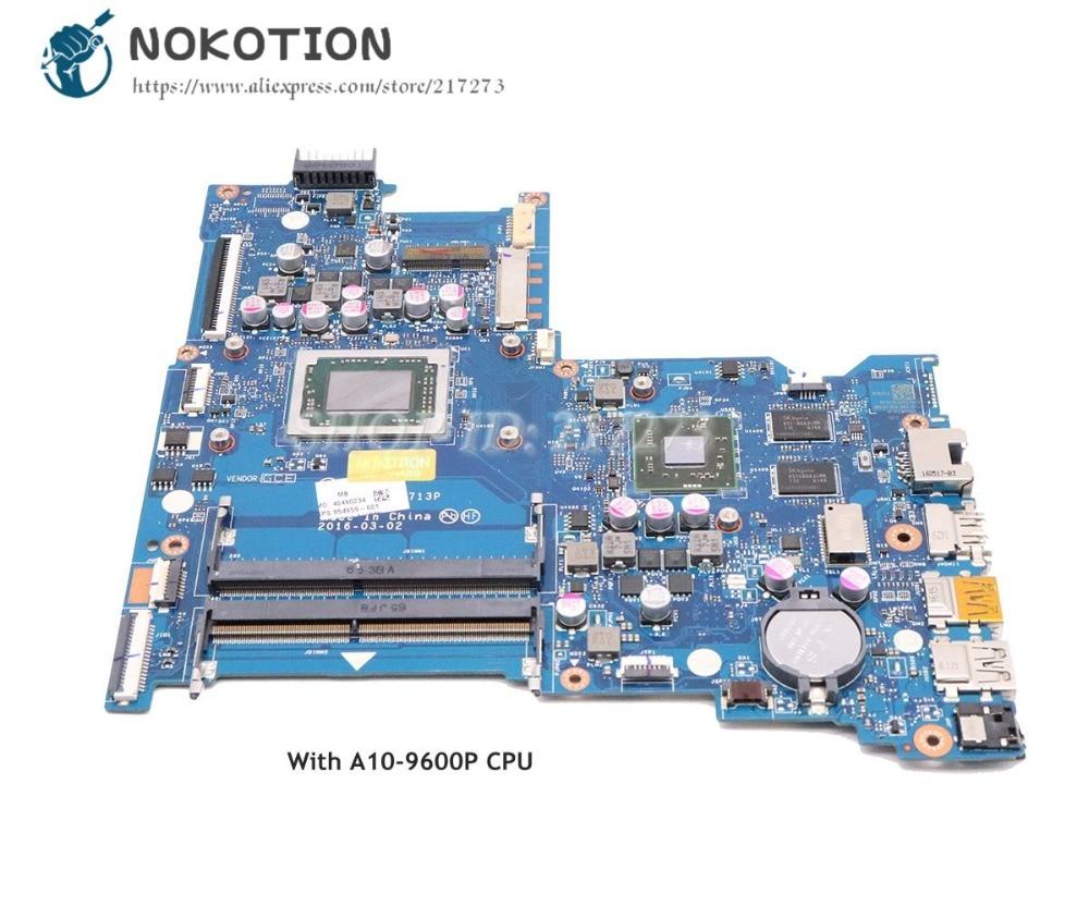 NOKOTION For HP Notebook 15-BA Laptop Motherboard BDL51 LA-D713P 854959-601 854959-001 A10-9600P CPU R8 M445DX graphicsNOKOTION For HP Notebook 15-BA Laptop Motherboard BDL51 LA-D713P 854959-601 854959-001 A10-9600P CPU R8 M445DX graphics