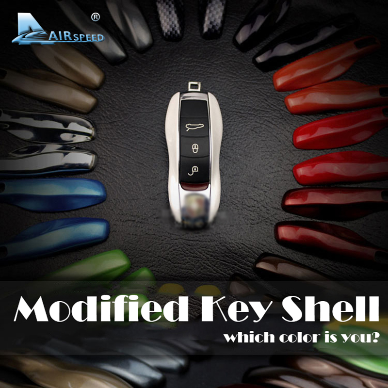 Airspeed Car Fob Remote Key Case Key Cover Key Shell Refit Replacement for Porsche Boxster Cayman 911 997 Panamera Cayenne Macan