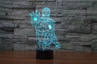 The new 7-color 3D USB creative Nightlight / LED lamp Cartoon Baby 071 / Free Shipping