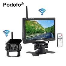 Беспроводной Грузовик Резервную Камеру и 7 дюймов HD Монитор ИК Ночного Видения Помощи При Парковке Камера Заднего Вида