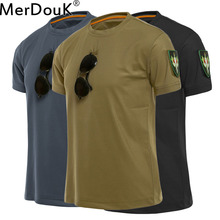 Men Tactical Tshirt Military Polyester Quick Drying T-Shirts Army Short Sleeve Wear Resistant Tee Soldier Breathable T Shirt