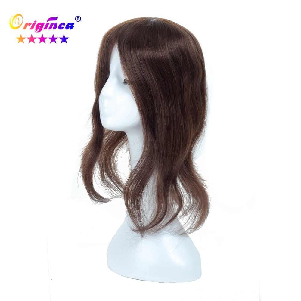 Originea женский парик из натуральных волос 13*17 см длина волос 30 см до 50 см 100% Remy парик из натуральных волос Замена системы для женщин