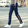 The winter men's casual pants wrinkle color jeans plus velvet trousers thick section Haren pants warm pants