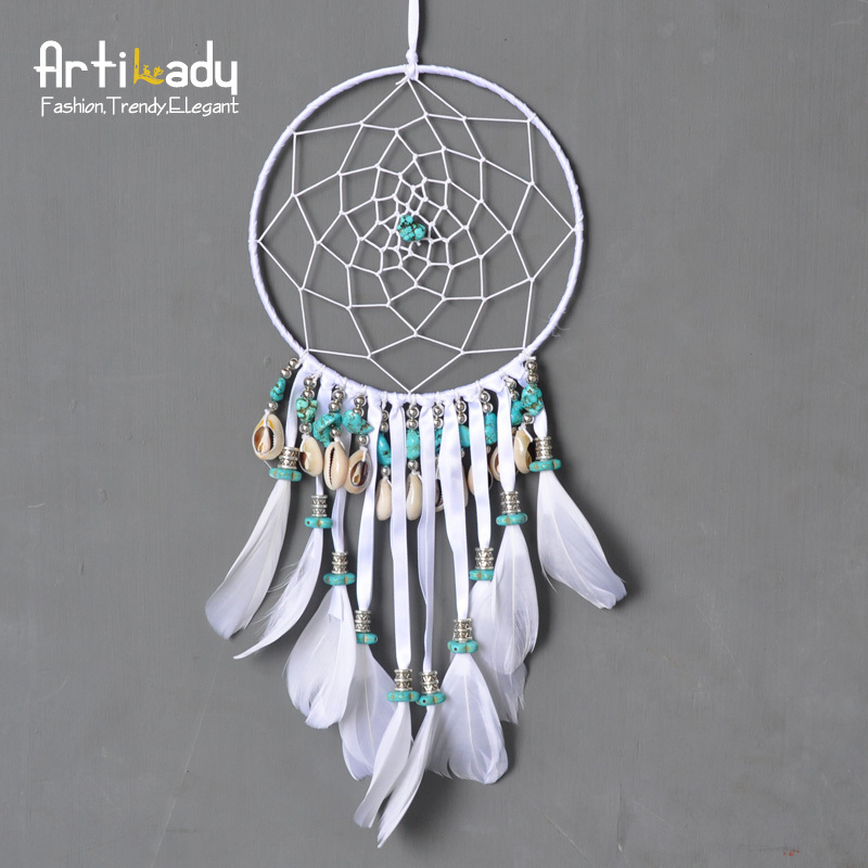 Huge Dream Catchers For Sale Artilady charm large dream catcher classic europe white leather 6