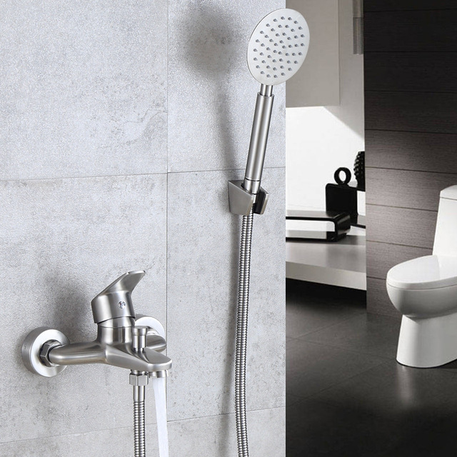 304 Stainless Steel Shower Faucet Bath Faucet Mixer Tap With ...