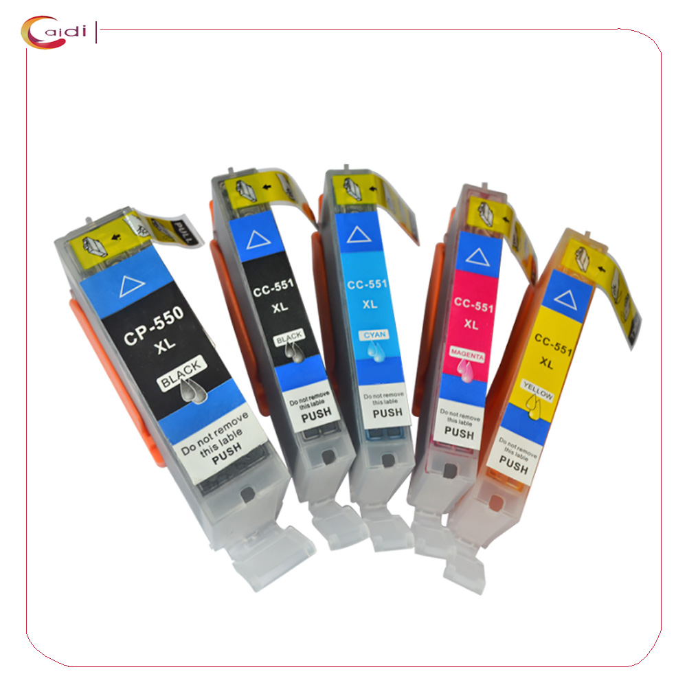 5 шт в упаковке совместимые чернильные картриджи для Canon PGI-550XL CLI-551XL Pixma MG5450 MG5550 MG5650 MG6350 MG6450 MG6600 MG6650 MX925 MX725
