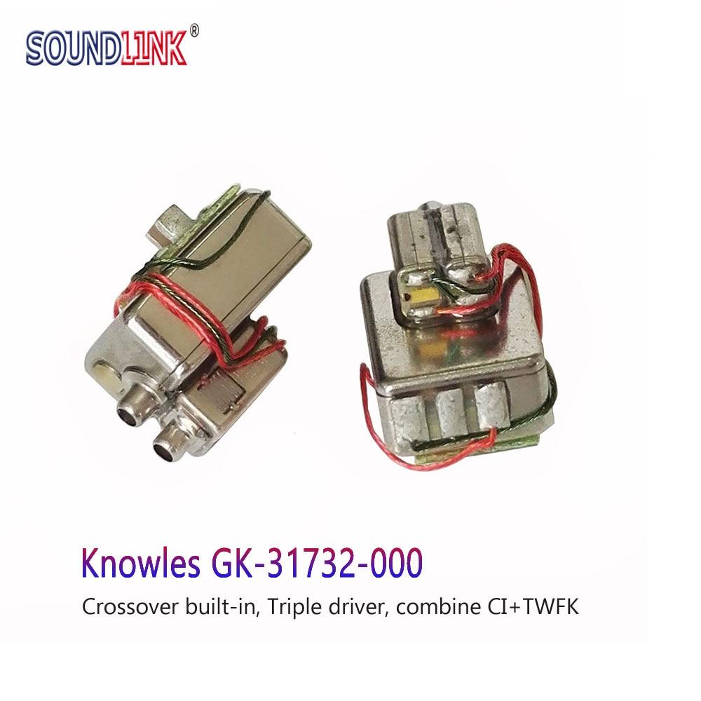 2PCS GK 31732 Knowles Balanced Armature Triple Driver Receiver Speaker In ear Monitors DIY