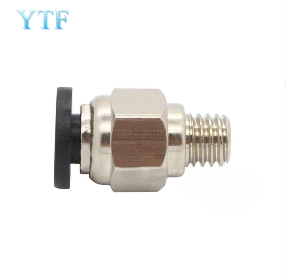 3D Printer Parts PC4-M6 Straight-through Pneumatic Connector Diameter 4MM Teflon Through Joints