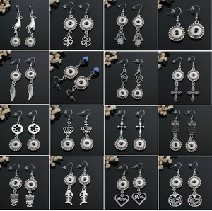 Image 3 - 10 pairs womens interchangeable 12mm DIY Charm mini snap on button jewelry earrings