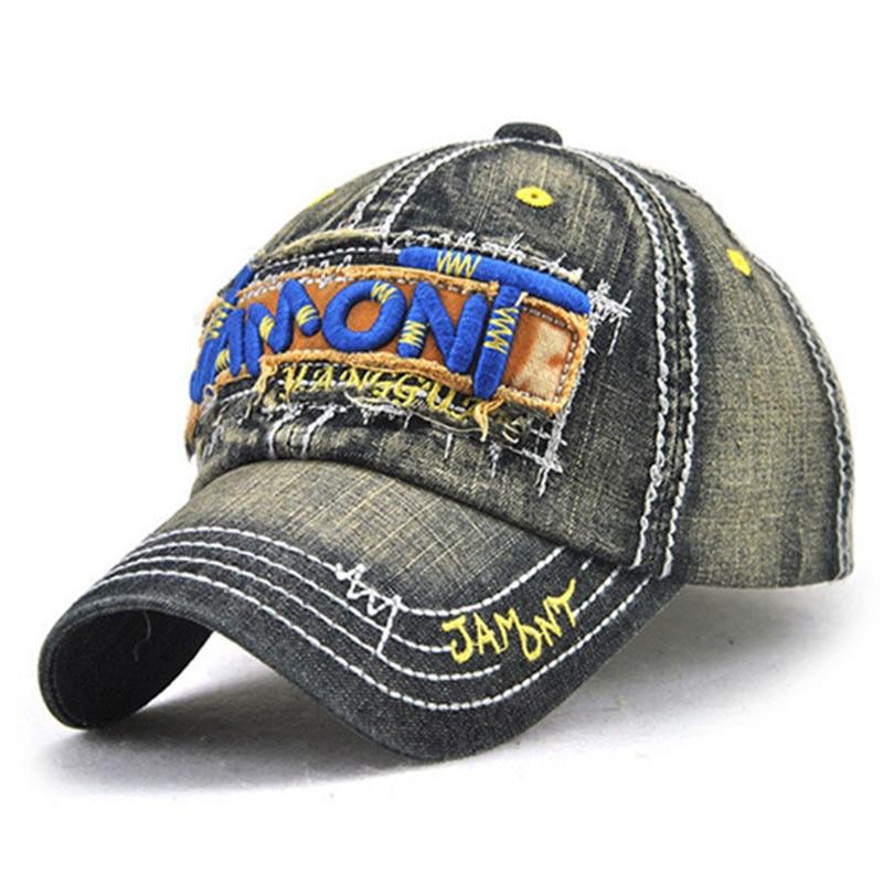 Unisex Summer Washed Cotton Denim Baseball Caps With Letter Embroidery Adjustable Size Snapback Bone Fashion Hip Hop Lovers Cap steve jey сумка на плечо