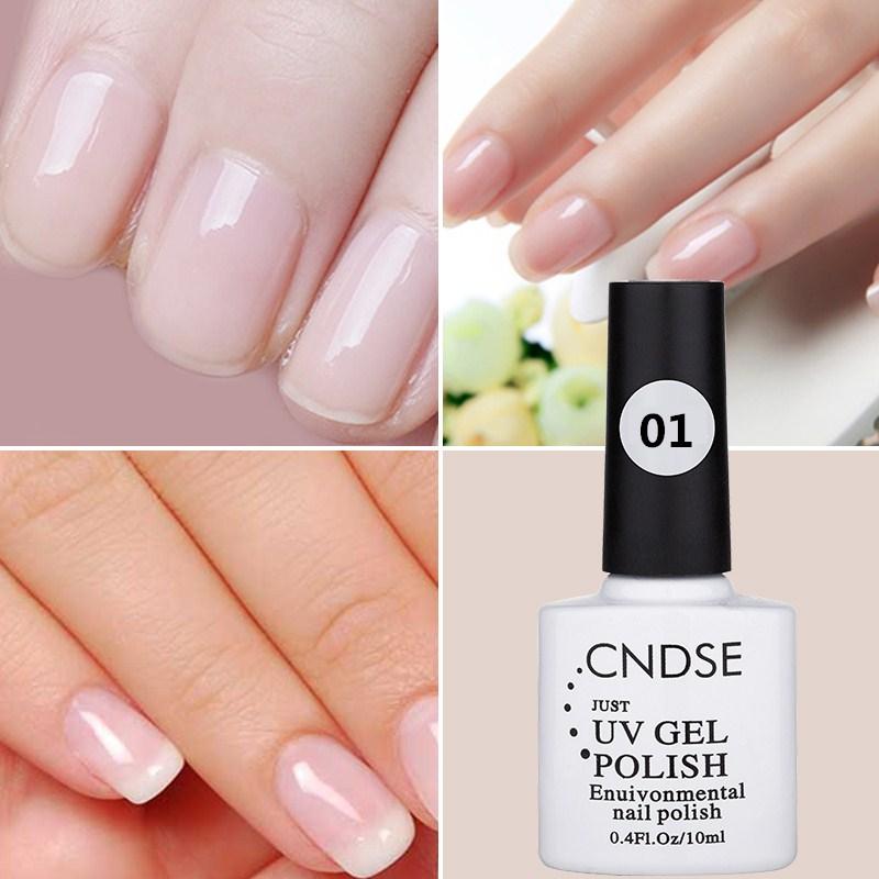 Cndse 10ml Uv Led Gel Nail Polish Women Natural Color Series Gel
