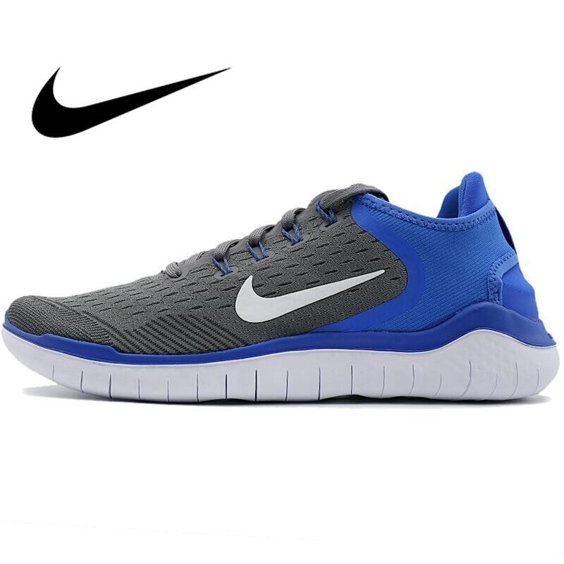 Chaussures de course pour hommes NIKE Original officiel chaussures de course Nike chaussures respirantes à lacets stabilité Sports de plein air marche 942836